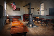 American Scenes Prints - Teacher - First day of school Print by Mike Savad