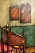 Schooling Art - Teacher - The Teachers Desk by Mike Savad