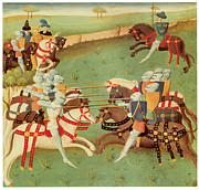Joust Posters - Teaching Knights to Joust Poster by French School