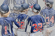 Baseball Uniform Prints - Team of baseball boys. Print by Tammy Abrego