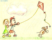 Summer Fun Drawings - Teamwork by Cristophers Dream Artistry