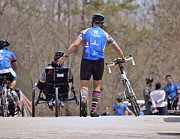 Wounded Warrior Prints - Teamwork - Wounded Warrior Project Soldier Ride Print by Deborah Stickney
