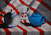 Reflective Surfaces Art - Teapot Council by Luane Penarosa