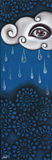 Rainy Day Painting Posters - Tear of a Cloud Poster by  Abril Andrade Griffith