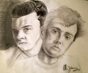 Legends Drawings Originals - Tears for Fears  by Mario  Jimenez