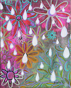 Vines Mixed Media Prints - Tears Of An Angel Print by Donna Blackhall