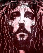 Jesus Digital Art Metal Prints - Tears of Jesus Metal Print by Mike Grubb