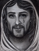 Jesus Drawings Originals - Tears of Joy by Just Joszie
