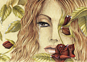 Red Rose Pastels - Tears of Love by Maena Bartolomei
