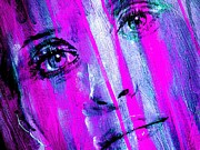 Tears - Purple Print by Richard Tito