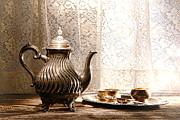 Historic Home Photo Metal Prints - Teatime Metal Print by Olivier Le Queinec