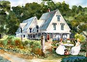 Old Houses Metal Prints - Teatime Metal Print by Susan Crossman Buscho