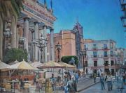 Guanajuato Paintings - Teatro Juarez by Henry David Potwin