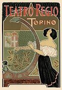 Belle Epoque Framed Prints - Teatro Regio Torino Framed Print by Sanely Great