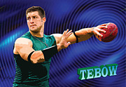 Tim Tebow Digital Art Framed Prints - Tebow Framed Print by John Keaton