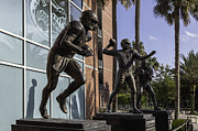 Tebow Art - Tebow Spurrier and Wuerffel UF Heisman Winners by Lynn Palmer