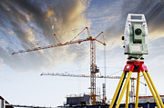Construction Site Framed Prints - Technology And Construction Framed Print by Christian Lagereek