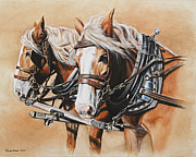 Western Western Art Painting Framed Prints - Ted and Tom Framed Print by Kim Lockman