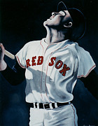Red Sox Art Paintings - Ted Williams by John Dykes