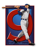 Red Sox Hall Of Fame Prints - Ted Williams Print by Ron Regalado