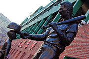 Mlb Metal Prints - Ted Williams Statue Metal Print by John McGraw