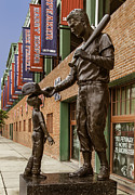 Ted Williams Posters - Ted Williams Statue Poster by Phil Cardamone