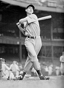 Baseball Bat Photo Metal Prints - Ted Williams swing Metal Print by Sanely Great