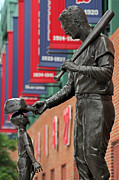 Mlb Metal Prints - Ted Williams Tribute Metal Print by Juergen Roth