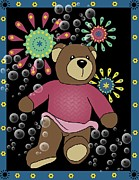 Teddy Bear Mixed Media - Teddy Bear 2 by Karen Sheltrown