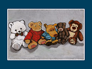Group Pastels - Teddy Bear Friends by Joyce Geleynse