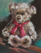 Paws Pastels Framed Prints - Teddy Bear Framed Print by Janice Harris