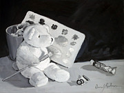 Black And White Sculpture Posters - Teddy Behr the painter Poster by Dan Redmon