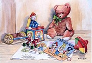 Madeline  Lovallo - Teddy with Books and Toys