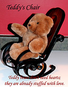 Pretending Digital Art Posters - Teddys Chair - Toy - Children Poster by Barbara Griffin