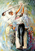 Sport Art - Tee Time by Miki De Goodaboom