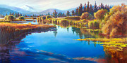 Pat Cross Posters - Tee Time Sunriver Meadows Poster by Pat Cross