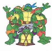 Michelangelo Drawings Prints - Teenage mutant ninja turtles  Print by Yael Rosen