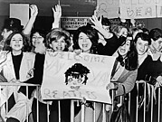 Screaming Posters - Teenagers Welcome The Beatles Poster by Underwood Archives