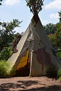 Fall Photos Originals - Teepee at Dallas Arboretum by Ruth  Housley