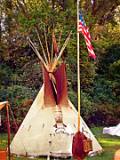 Marty Koch  Metal Prints - Teepee Metal Print by Marty Koch