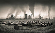 Apocalypse Framed Prints - Teesside Steelworks I Framed Print by David Bowman