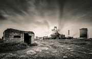 Haze Metal Prints - Teesside Steelworks II Metal Print by David Bowman