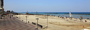Tel Aviv Photos - Tel Aviv beach panorama  by Oren Shalev