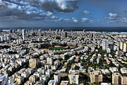 Tel Aviv Center Print by Ron Shoshani