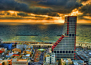 Israeli Digital Art Metal Prints - Tel Aviv Lego Metal Print by Ron Shoshani