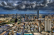 Sydney Skyline Digital Art Prints - Tel Aviv Love Print by Ron Shoshani