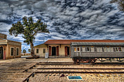 Israeli Digital Art Prints - Tel Aviv old railway station Print by Ron Shoshani