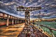 Meditative Prints - Tel Aviv port at winter time Print by Ron Shoshani
