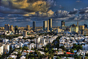Holyland Prints - Tel Aviv Skyline Fascination Print by Ron Shoshani