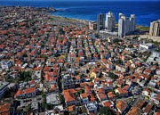 Landscape Framed Prints Prints - Tel Aviv - the first neighboorhoods Print by Ron Shoshani